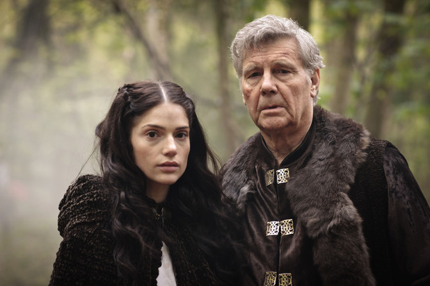 Merlin S05E04 - 'Another's Sorrow': King Rodor (JAMES FOX), Princess Mithian (JANET MONTGOMERY)