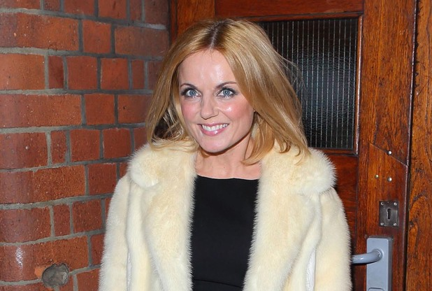 Geri Halliwell arrives to perform in the smash-hit musical Singing in the Rain for BBC Children in Need (POP Goes the Musical)