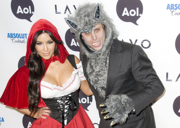Kim Kardashian and Jonathan Cheban Heidi Klum's 11th Annual Halloween Party at Lavo - Arrivals New York City, USA