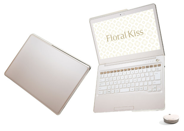 Floral Kiss laptop in Feminine Pink