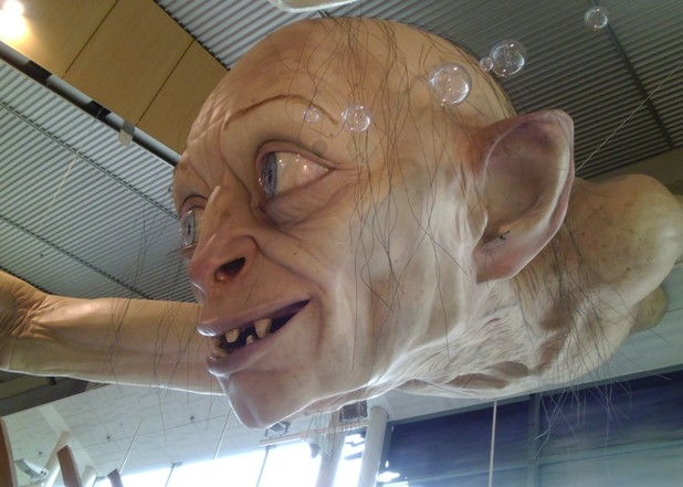 Gollum at the airport