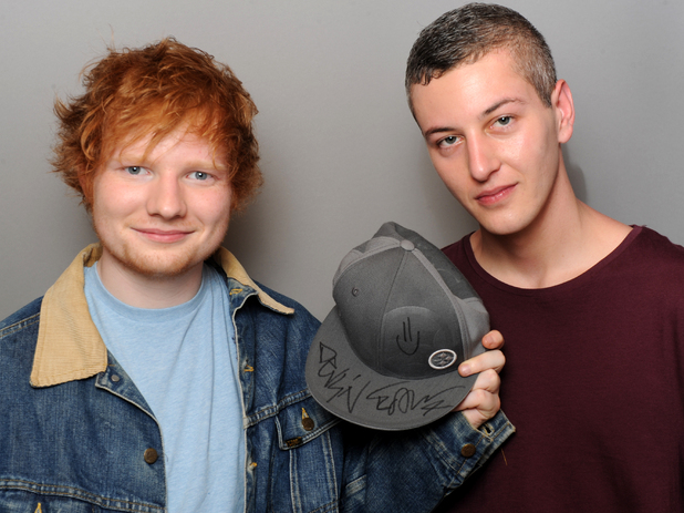 Ed Sheeran and Devlin hat