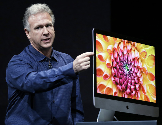 Phil Schiller, Apple's senior vice president of worldwide product marketing, talks about the thinness of the new iMac