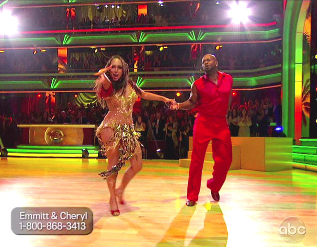 Emmitt Smith and Cheryl Burke - ABC's 'Dancing with the Stars: All-Stars' Season 15, Episode 9