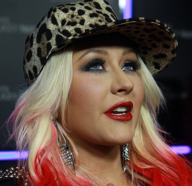 Christina Aguilera Samsung Mobile Launch Party For The New Samsung Galaxy Note II - Arrivals Beverly Hills, California - 25.10.12 Mandatory Credit: FayesVision/WENN.com