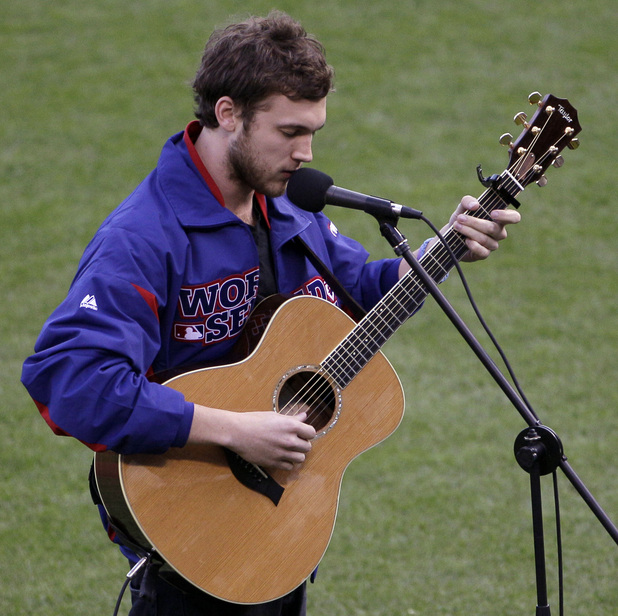 Phillip Phillips sings 'The Star-Spangled Banner' at MLB World Series Game 1 - October 24, 2012