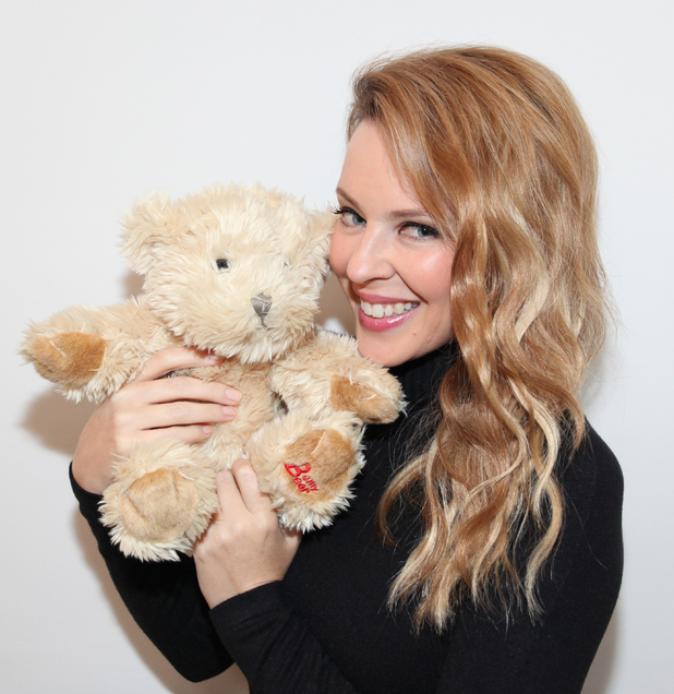 Kylie Minogue with her CLIC Bear
