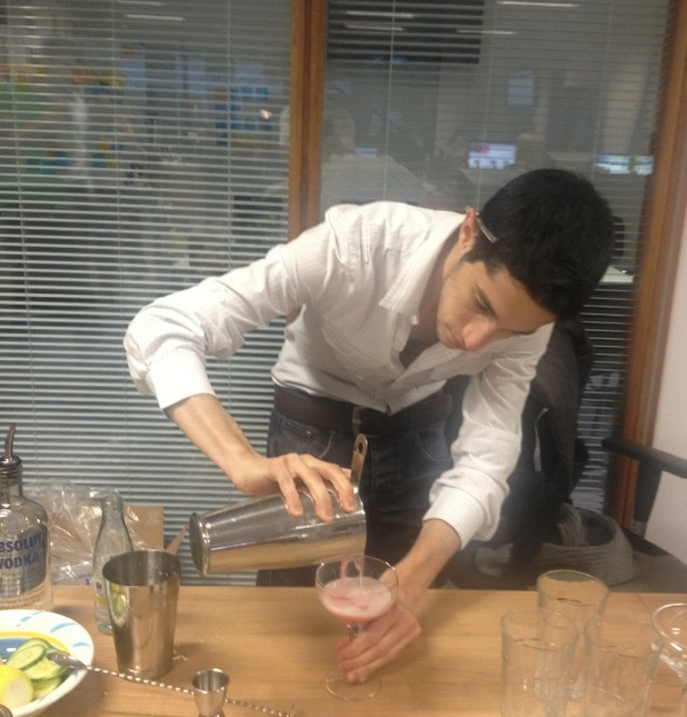 Digital Spy's Jason Margolin makes cocktails.