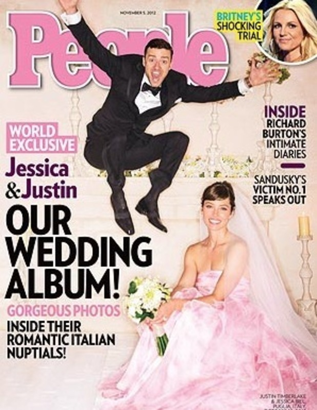 People cover 24.10.12, Justin Timberlake and Jessica Biel Wedding Album cover
