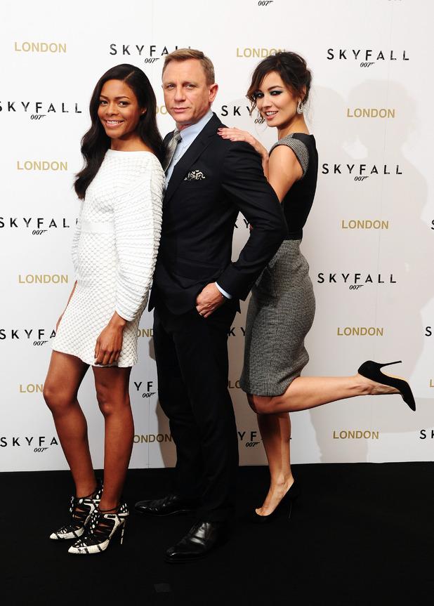Naomie Harris, Daniel Craig and Berenice Malohe