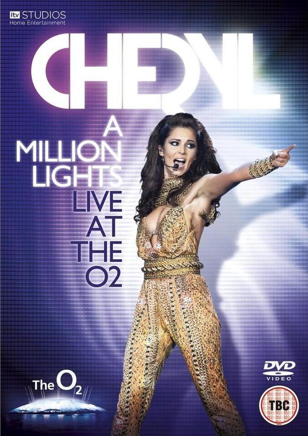 Cheryl Cole 'A Million Lights Live At The O2' DVD artwork.