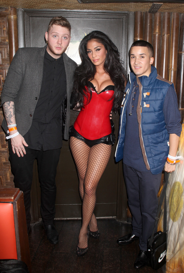 Nicole Scherzinger, James Arthur and Jahmene Douglas