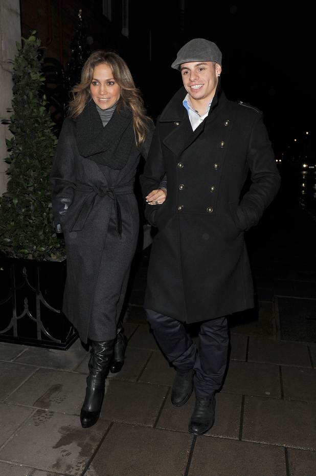 Jennifer Lopez and boyfriend Casper Smart enjoy a late dinner at Hakkasan restaurant, following a trip to the O2 Arena to watch 'Cirque Du Soleil: Michael Jackson, the Immortal World Tour'.