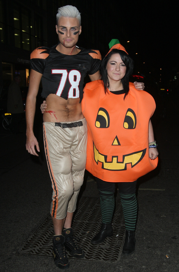 Lucy and Rylan at Rylan's Halloween party