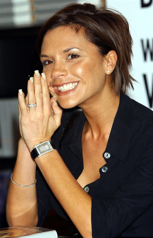 Posh Spice Victoria Beckham during a book signing for her autobiography 'Learning to Fly', at Waterstones bookshop in Piccadilly, London