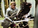 Merlin S05E04 - 'Another's Sorrow': King Arthur Pendragon (Bradley James), Princess Mithian (JANET MONTGOMERY)