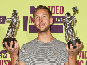 Calvin Harris 2012 MTV Video Music Awards, held at the Staples Center - Press Room Los Angeles, California - 06.09.12 Mandatory Credit: FayesVision/WENN.com