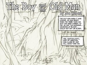 'The Boy and the Old Man' by Joe Kubert