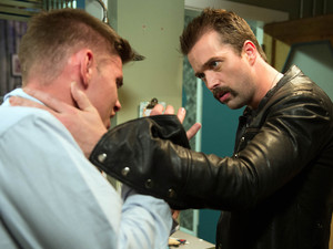Hollyoaks, Brendan calms Ste down, Wed 31 Oct 2012