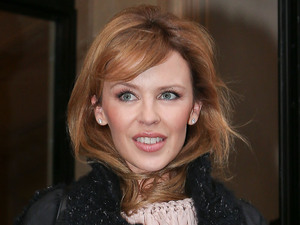 Kylie Minogue leaves the Four Seasons hotel in Paris Paris, France