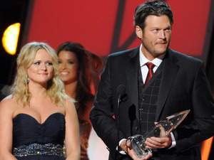 46th Annual CMA Awards: Miranda Lambert and Blake Shelton accept the award for Song of the Year