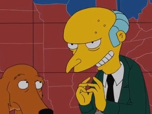 Mr Burns from The Simpsons supports Mitt Romney