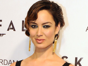 Actress Berenice Marlohe attending the premiere of the new James Bond film &#39;Skyfall&#39;, held at the Pathe Tuschinki Theatre in Amsterdam 