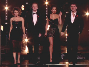 Louis Walsh, Dannii Minogue, Cheryl Cole and Simon Cowell are judges on 'The X Factor', shown on ITVEngland - 05.12.10 Supplied by WENN.comWENN does not claim any ownership including but not limited to Copyright or License in the attached material. Any downloading fees charged by WENN are for WENN's services only, and do not, nor are they intended to, convey to the user any ownership of Copyright or License in the material. By publishing this material you expressly agree to indemnify and to hold WENN and its directors, shareholders and employees harmless from any loss, claims, damages, demands, expenses (including legal fees), or any causes of action or  allegation against WENN arising out of or connected in any way with publication of the material.