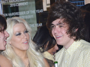 Frankie Cocozza and Amelia Lily Jamie Stevens' salon launch party in West Kensington London, England