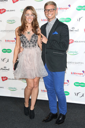 Jeff Brazier and girlfriend Nicola T Specsavers Spectacle Wearer of the Year 2012 held at Battersea Power Station - Arrivals London, England