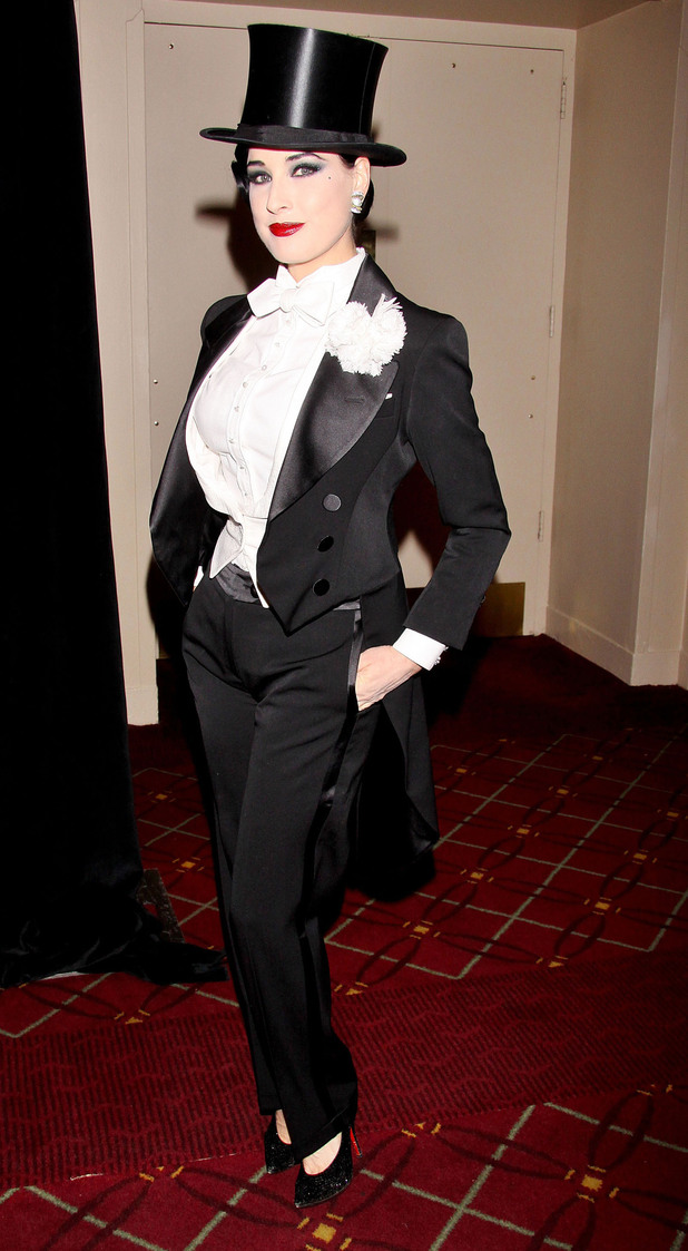 Dita Von Teese attending the 17th Annual NYRP Halloween Benefit Gala, held at the Waldorf-Astoria Hotel.  New York City, USA