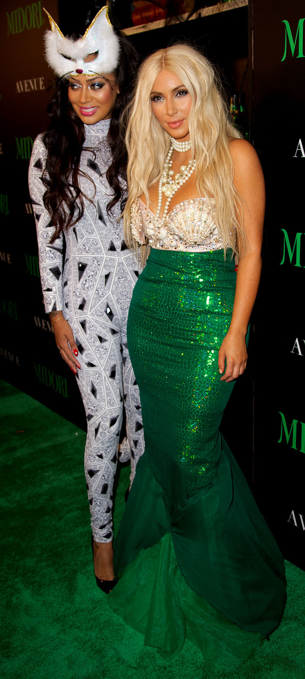 La La Anthony and Kim Kardashian