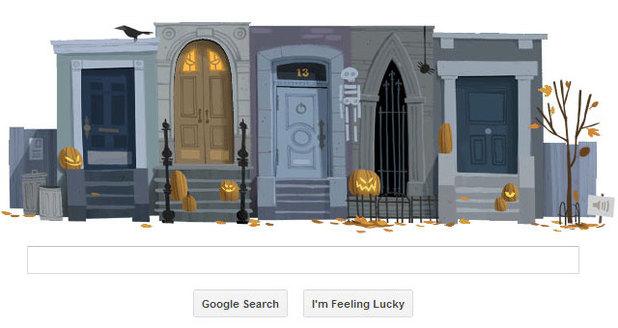 Google Halloween Doodle (Before)