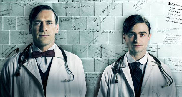 John Hamm and Daniel Radcliffe in 'A Young Doctor's Notebook'