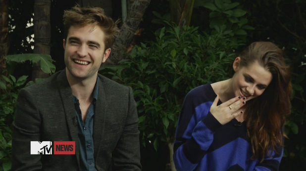 Robert Pattinson, Kristen Stewart - MTV interview, November 1, 2012