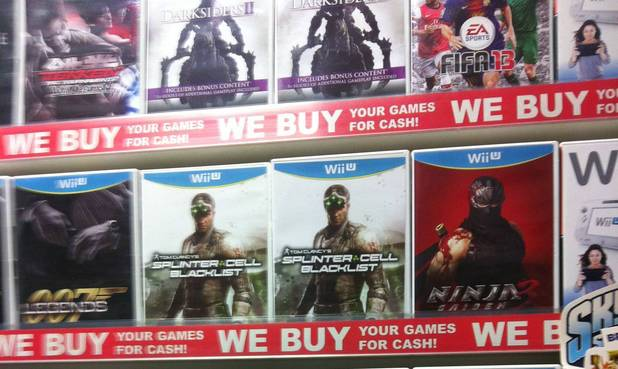 Splinter Cell Blacklist Wii U pre-order boxes up in GameStop in Ireland