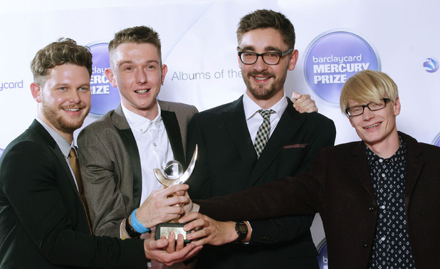 Alt-J with the Barclaycard Mercury Prize 2012 trophy