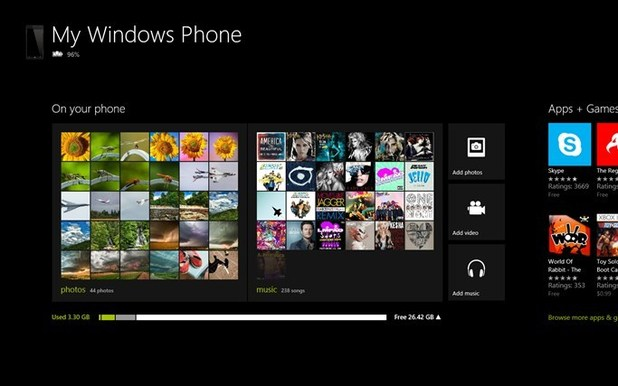 Windows Phone 8 app screenshot