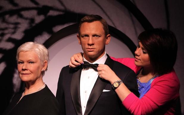 Daniel Craig waxwork, Dame Judi Dench waxwork, Madame Tussauds