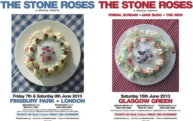 The Stone Roses announce three UK shows for June 2013