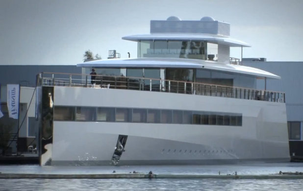 Image of Steve Jobs' yacht