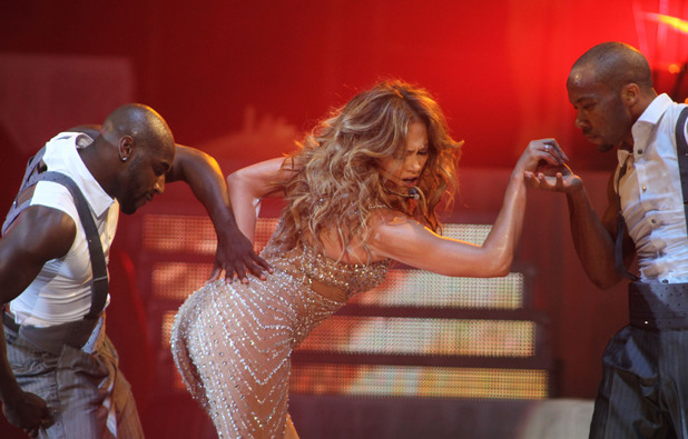 Jennifer Lopez performing at Ahoy in Rotterdam
