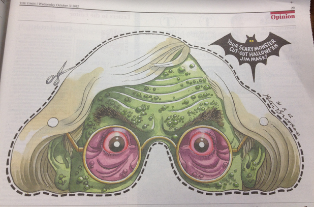 The Times Jimmy Savile mask