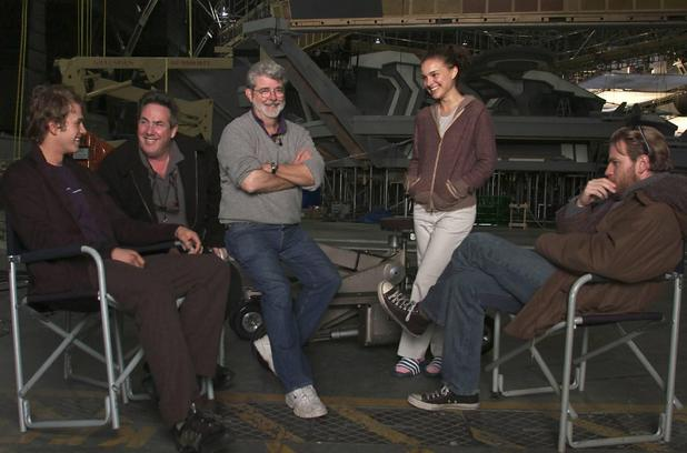 On the set of Star Wars: Episode III - Revenge of the Sith