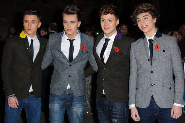 Jamie Hamblett, Josh Cuthbert, Jaymi Hensley and George Shelley of Union J Cosmopolitan Ultimate Women Of The Year Awards held at the Victoria and Albert Museum - Arrivals. London, England - 30.10.12 Mandatory Credit: WENN.com