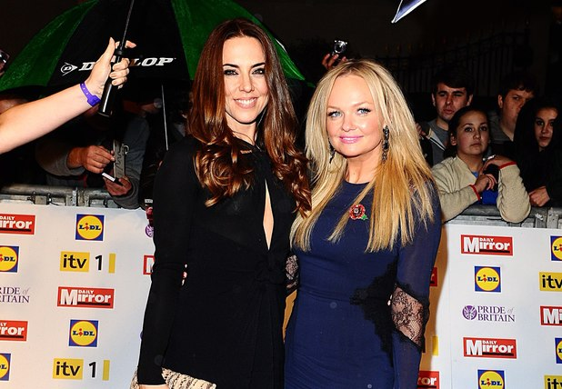 Melanie Chisolm and Emma Bunton at the 2012 Pride of Britain awards at Grosvenor House, London