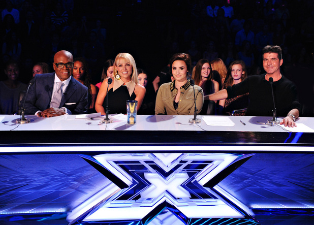 'The X Factor' USA TX Nov 1 - Judges LA Reid, Britney Spears, Demi Lovato and Simon Cowell