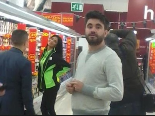 Nicole Scherzinger joins Jahmene Douglas in Asda.