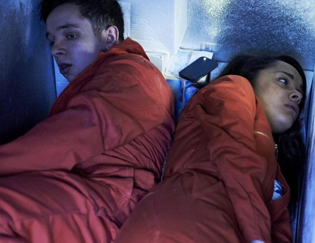 Misfits (Season 4, Episode 1) Nathan McMullen as Finn and Karala Crome as Jess