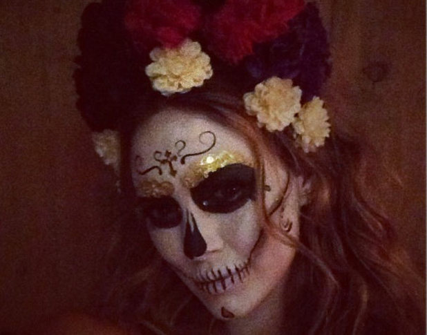 Hilary Duff posted this picture of her spooky halloween costume